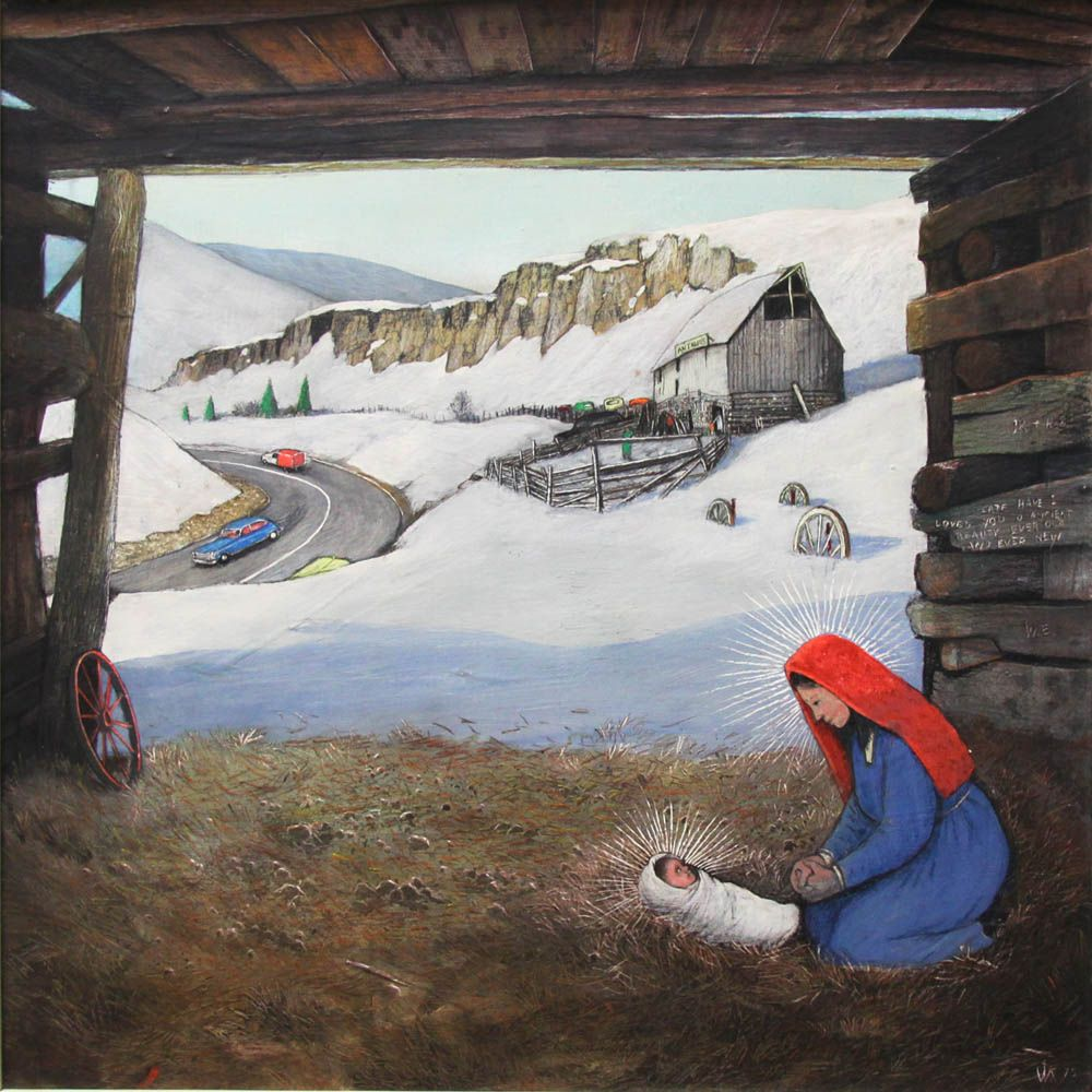 'Ancient Beauty Ever Old and Ever New' by William Kurelek at Mayberry Fine Art