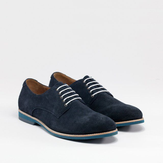 ba0225397790 Dark Navy Lace Up Derby Shoes by Amsterdam Shoe Co