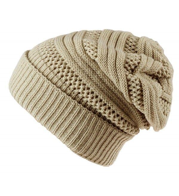 9a6076e869dd38 Hats & Caps, Women's Hats & Caps, Skullies & Beanies, Unisex Oversized  Cable Knit Slouchy Beanie Warm Thick Winter Hats Skull Cap Beige  CJ186NEG5G2 #Women ...