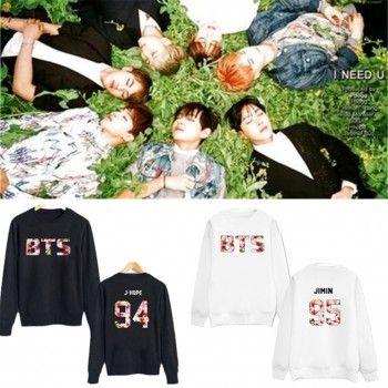 953eb8a849f9 KPOP Bangtan Boys BTS In Bloom Sweater Pullover Rap Monster J-hope Jin Jimin  SUGA V Hoodie