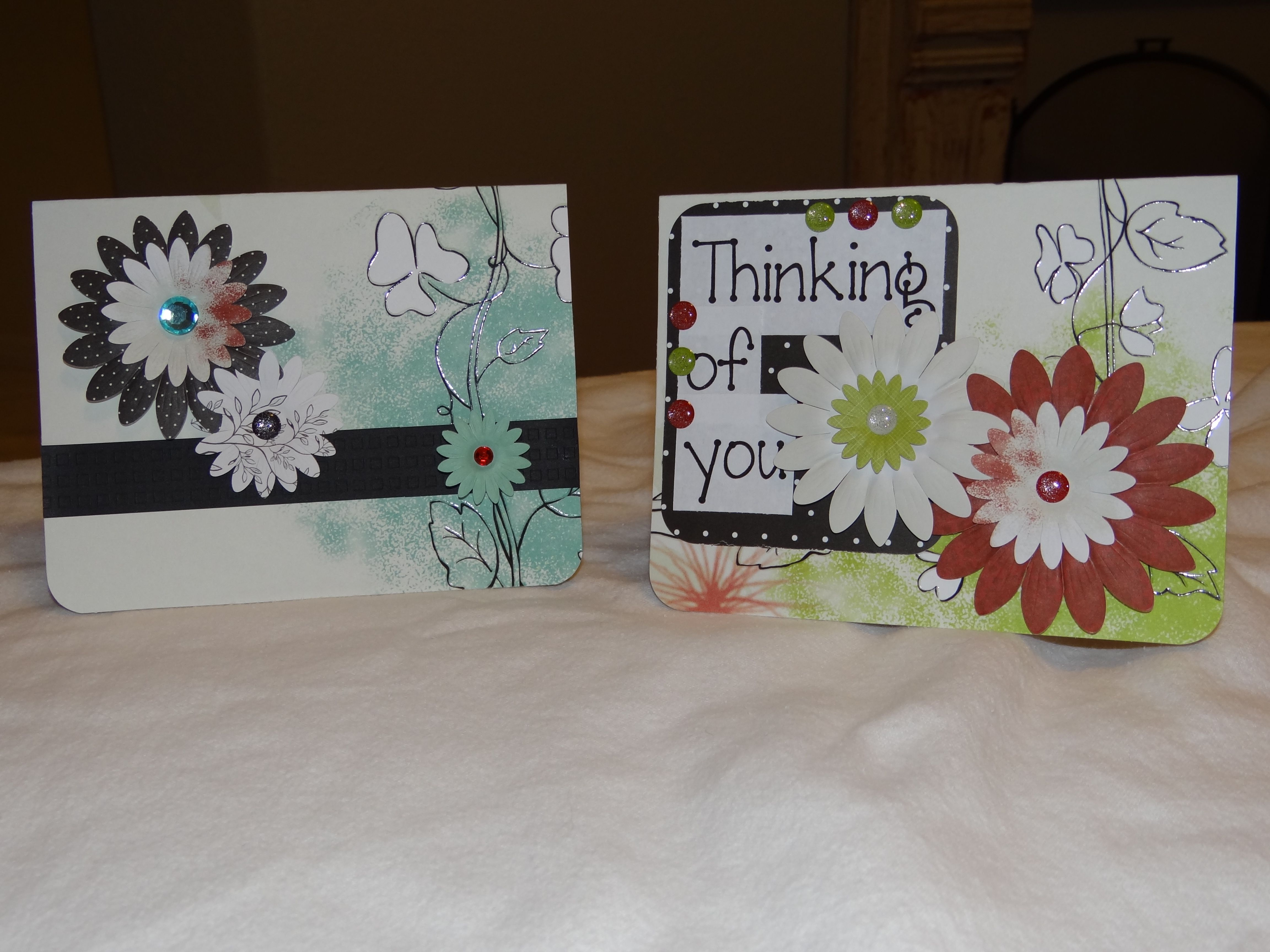 "handmade cards using creative memories ""enchanted"" paper"