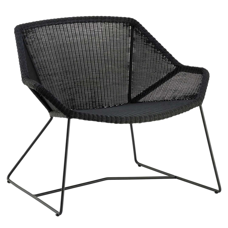 Black No Cushion Whistler Reno Outdoor Lounge Chair Cushions