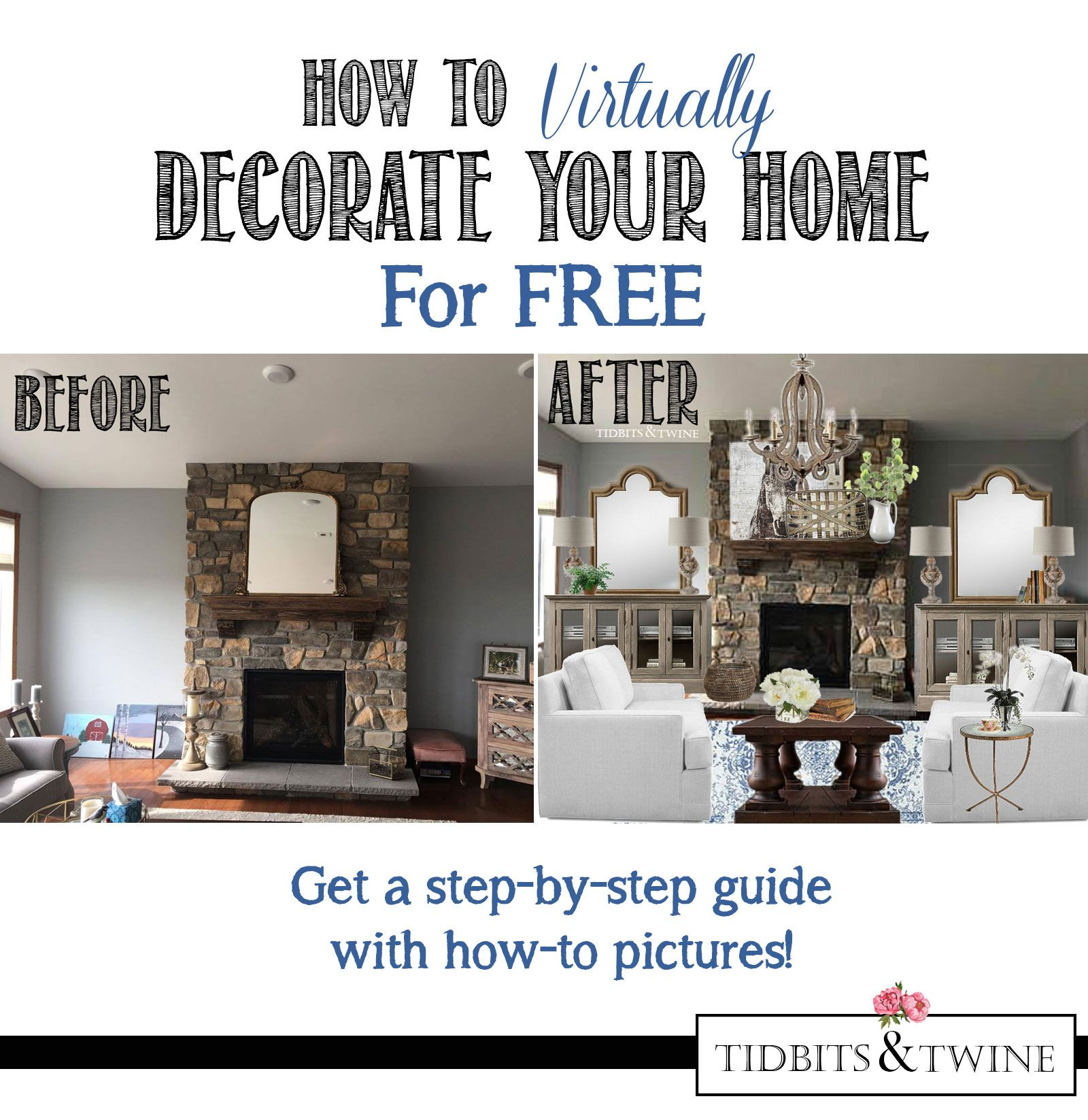 Genial Learn An Easy Way To Decorate Your Home Virtually! Simple Step By Step  Tutorial Guides You Through A Stunning BEFORE And AFTER Makeover.