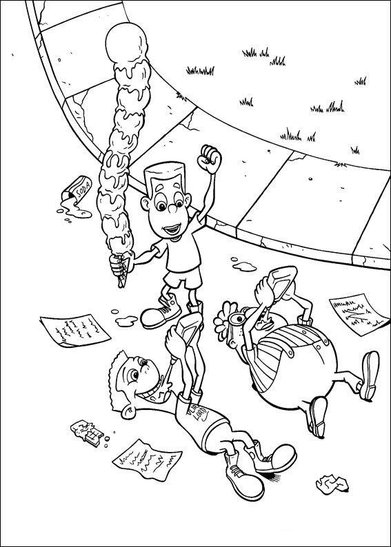 Disegni da Colorare Jimmy Neutron 16