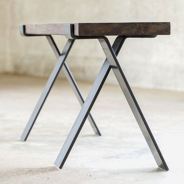 Industrial Unique Metal Designer Coffee Table: Industrial Coffee Table Legs # 15.5-inches Tall
