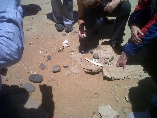 Kuiseb Delta Adventures: Inspecting more bushman artefacts.