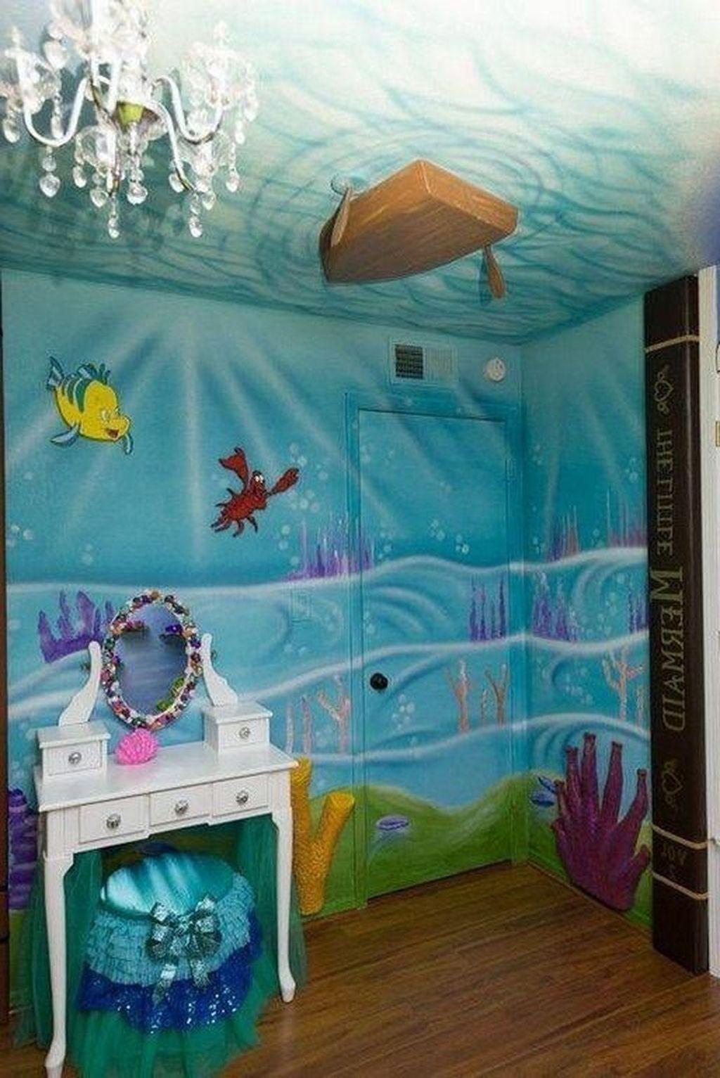 Popular Mermaid Bathroom Decor Ideas29 Mermaid Room Decor Mermaid Bathroom Decor Little Mermaid Bedroom