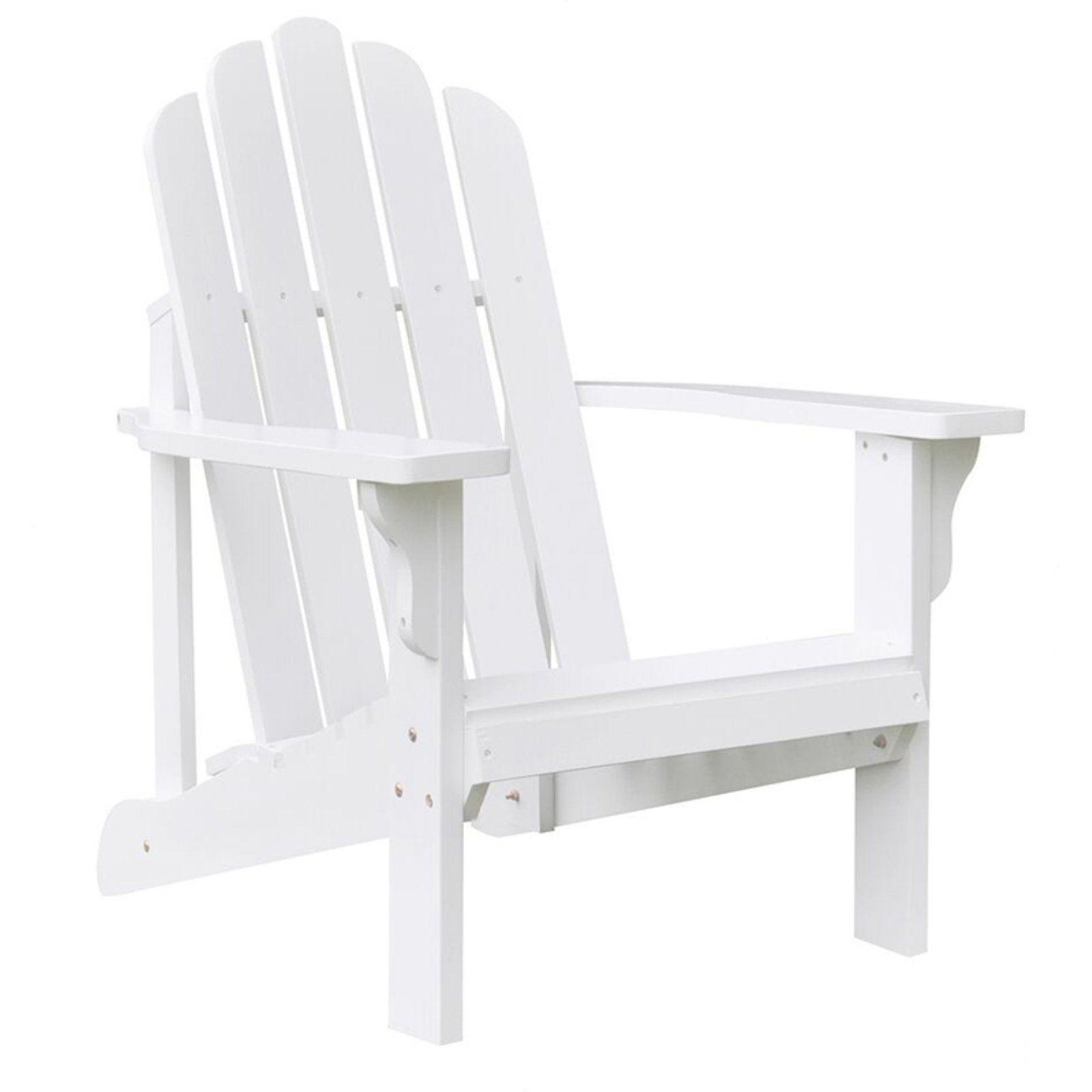 Superbe Outdoor Shine Company Marina Painted Adirondack Chair White