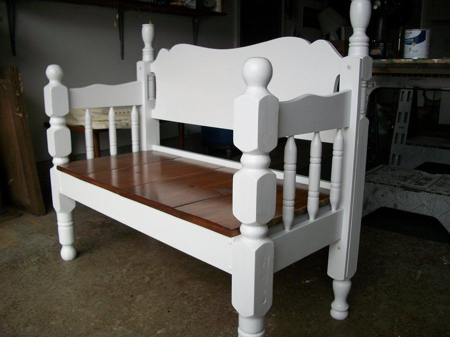 Superb Benches Made From Bed Frames Bed Frame Bench We Used A Short Links Chair Design For Home Short Linksinfo