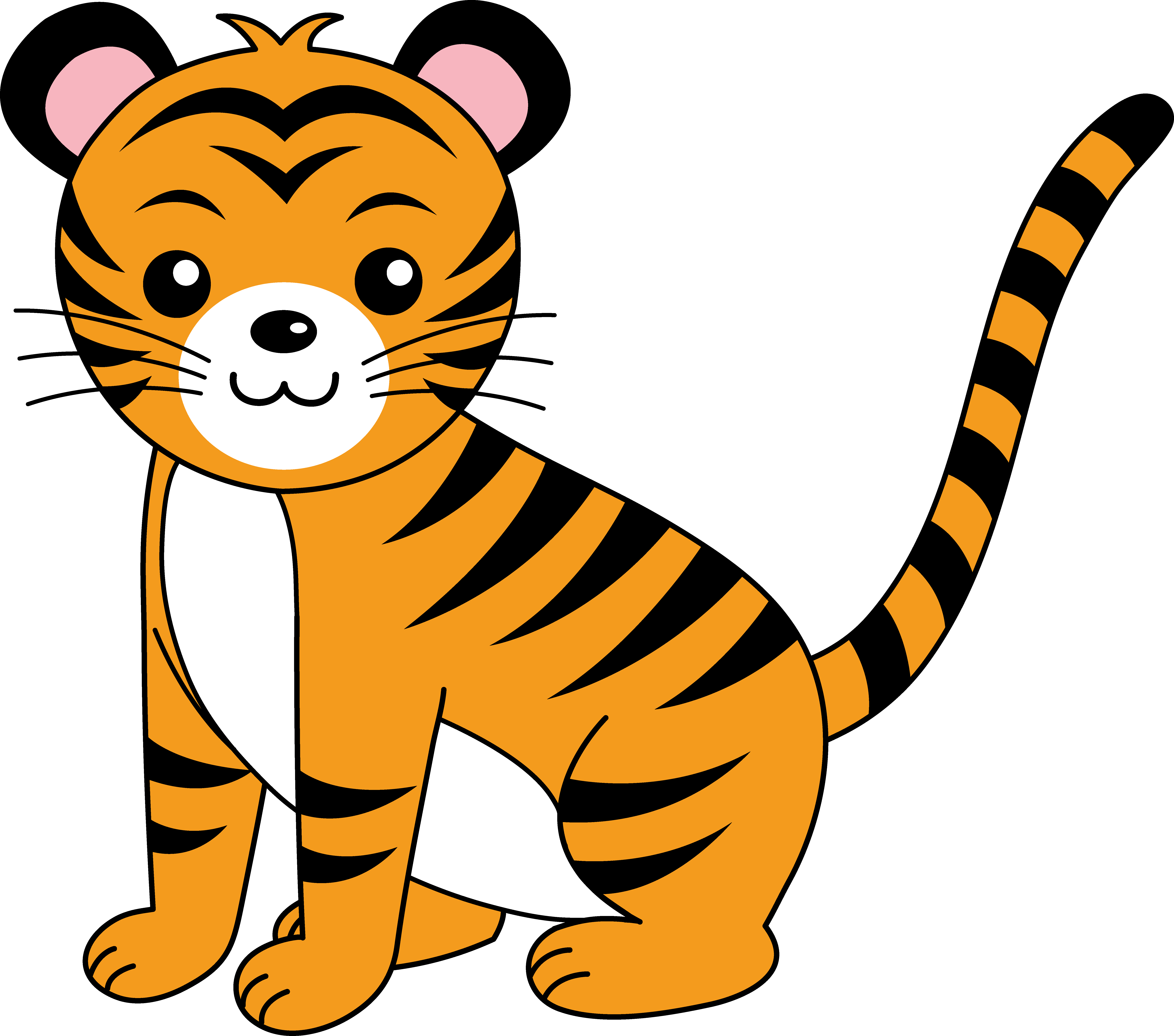 adorable clipart free free clip art kids pinterest clip art rh pinterest com tiger clipart free black and white tiger paw clipart free