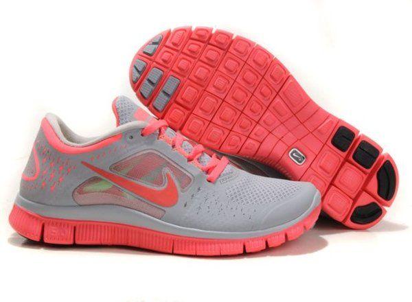 Nike Free Run 5.0 Womens Shoes Grey Pink | Nike free shoes