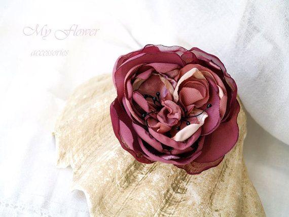 Pink flower brooch dusty mauve flower for hair silk flower statement pink flower brooch dusty mauve flower for hair silk flower statement floral hair piece corsage flower mightylinksfo