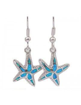 Samira - Sterling 925 Silber Opal Seestern Ohrringe Tabea