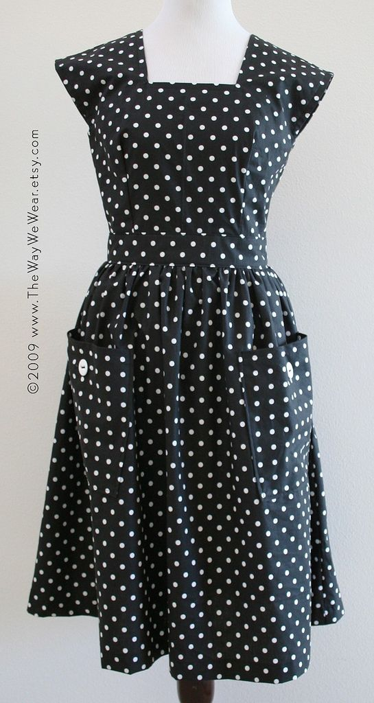 1940\'s Pinafore Dress - Vintage Reproduction FRONT VIEW | Pinafore ...