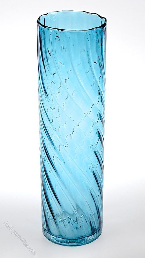 Retro C1970s Swedish Blue Glass Vase Retro And Glass