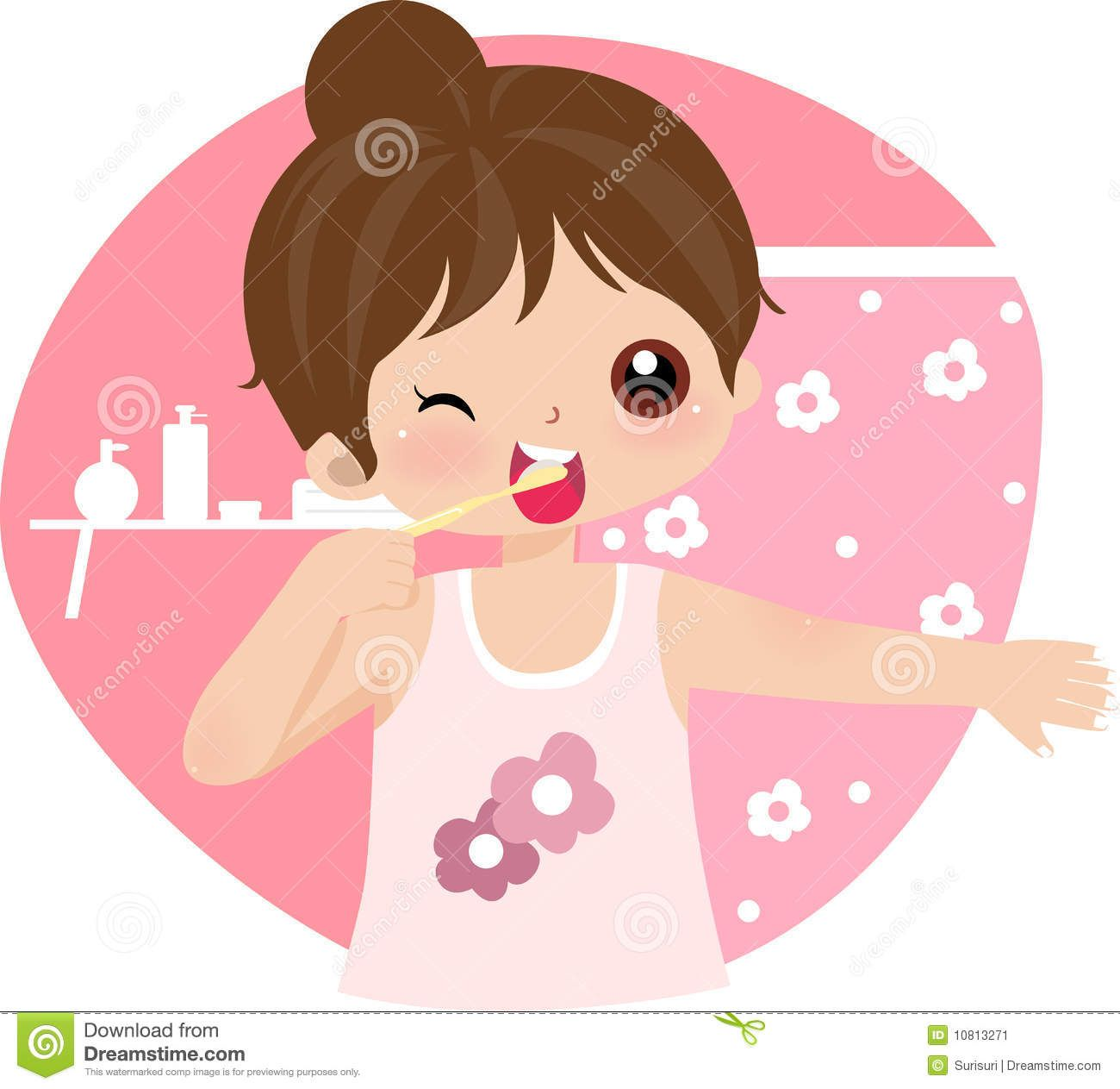 brush teeth illustration | Boy brushing teeth- Art Vector ...
