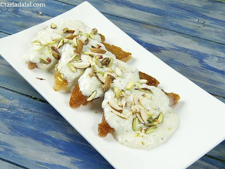 Quick Shahi Tukda Recipe Shahi Tukra With Condensed Milk Recipe Recipe Condensed Milk Recipes Shahi Tukda Recipe Recipes