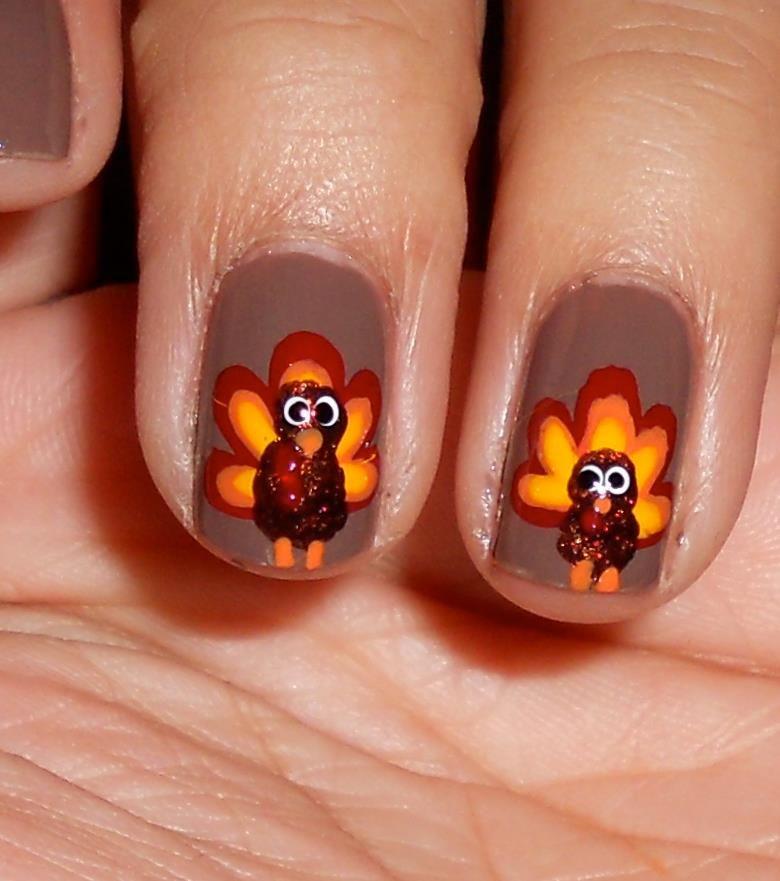 Thanksgiving Nail Art Ideas for Beginners | Pinterest | Thanksgiving ...