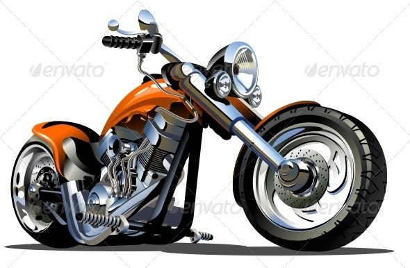 Vector Cartoon Motorbike Motorcycle Illustration Motorcycle