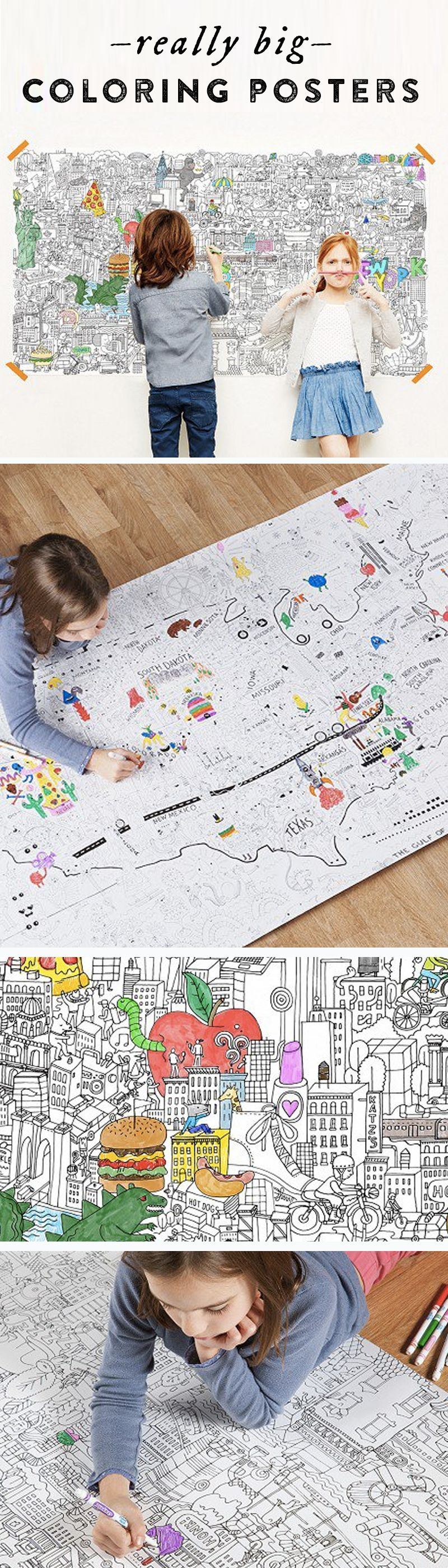 Love These Enormous Coloring Posters Chock Full Of Fun Detailed Drawings That Kids And Adults Will Be Extra Excited To Explore Fill In