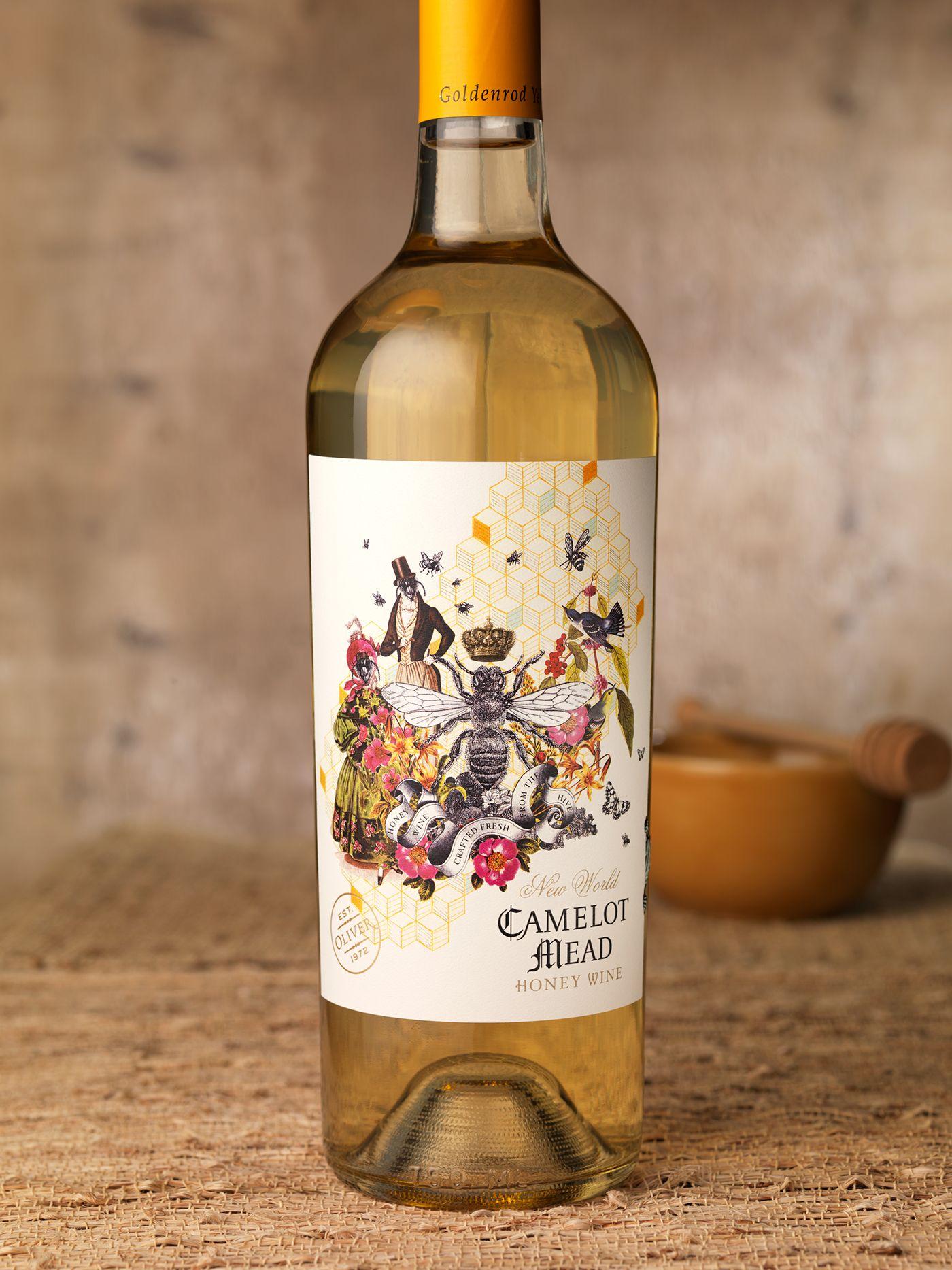 Camelot Mead Honey Wine Label Packaging Design On Behance Wine Bottle Label Design Mead Wine Honey Wine