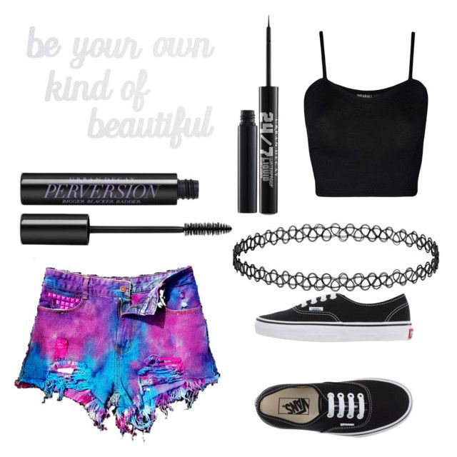 Untitled #17 by eminemily01 on Polyvore featuring WearAll, WithChic, Vans, Urban Decay and PBteen