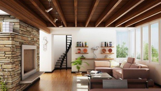Decorar Con Techos De Madera Diseño De Interiores Interiores De Casa Decoracion De Interiores