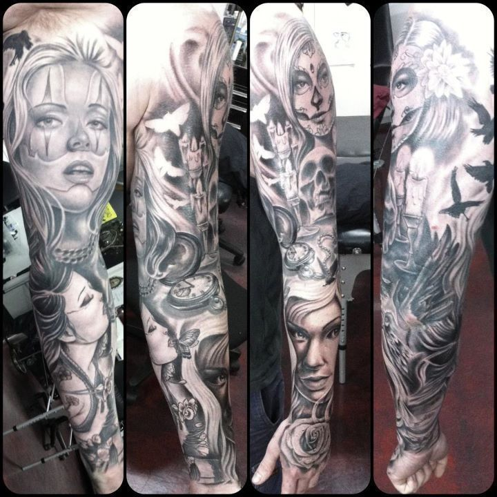 Chicano Tattoo Sleeve