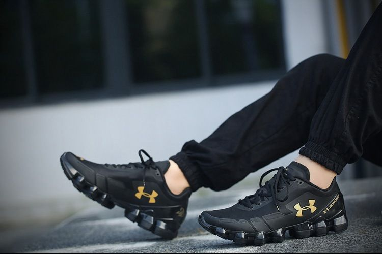 gold under armour shoes