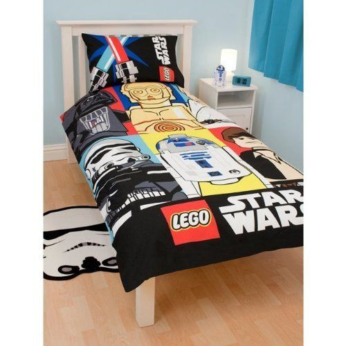 Childrens Kids Lego Star Wars Duvet Quilt Cover Bedding Set Twin Bed Black Yellow By Star Wars 41 Star Wars Bed Star Wars Twin Bedding Kids Bedding Sets