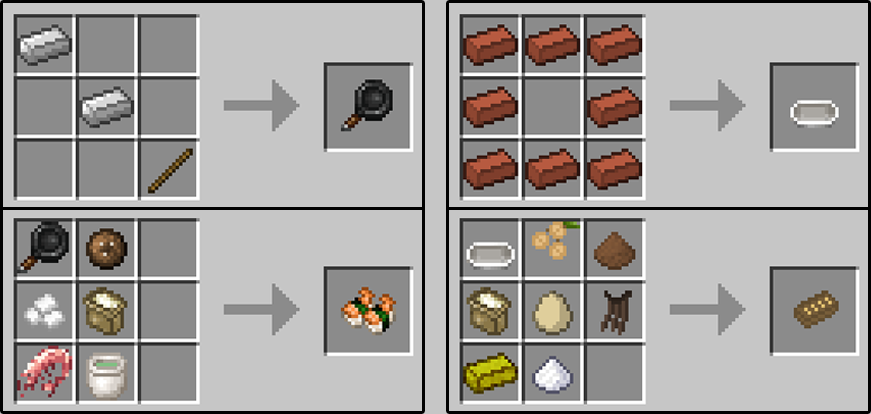 Как создать еду майнкрафт
