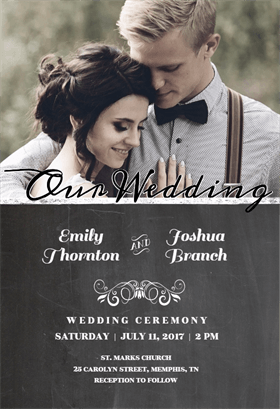 Our Wedding Printable Invitation Template. Customize, Add Text And Photos.  Print, Download, Send Online Or Order Printed!