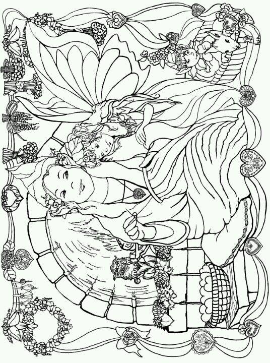 Phee Mcfaddell artist free coloring page pretty | Spiritual ...