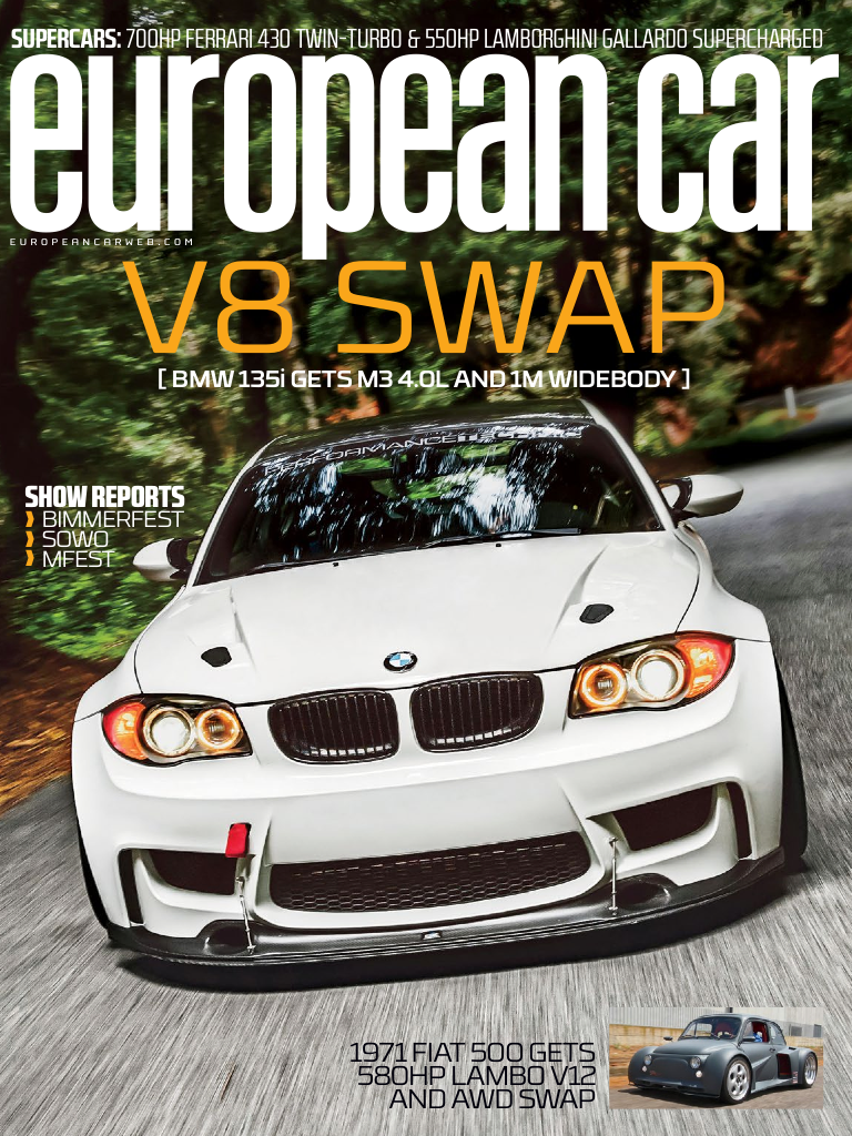 European Car Magazine Article On My 1m3 Clone S65 V8 Powered Bmw