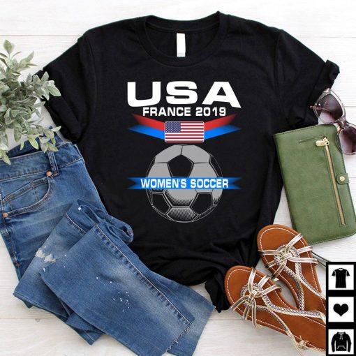 Womens USA Women's Soccer 2019 World Championship TShirt
