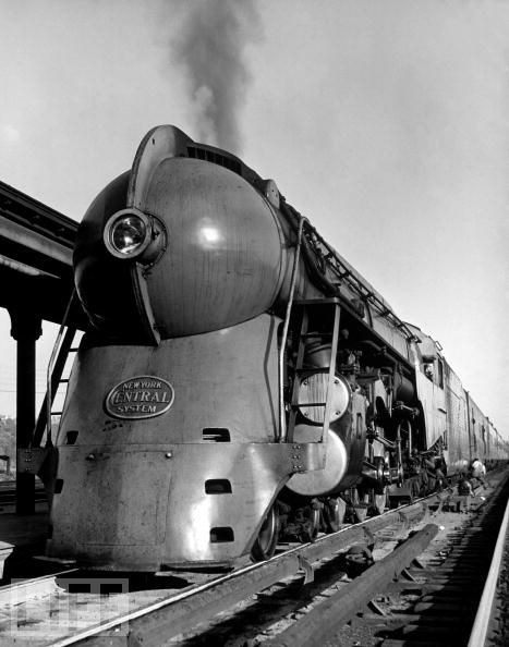 This is the greatest train I have ever seen. 20th Century Limited train on tracks.  Jan 01, 1941. Alfred Eisenstaedt.