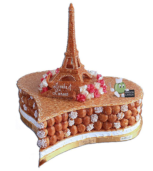 piece-monte-coeur-tour-eiffel | mariage gâteau | pinterest