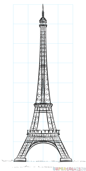 How To Draw The Eiffel Tower Step By Step Drawing Tutorials For Kids And Beginners Eiffel Tower Drawing Eiffle Tower Drawing Eiffel Tower Photography