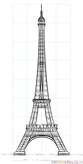 le tower | Eiffel tower drawing, Art drawings simple
