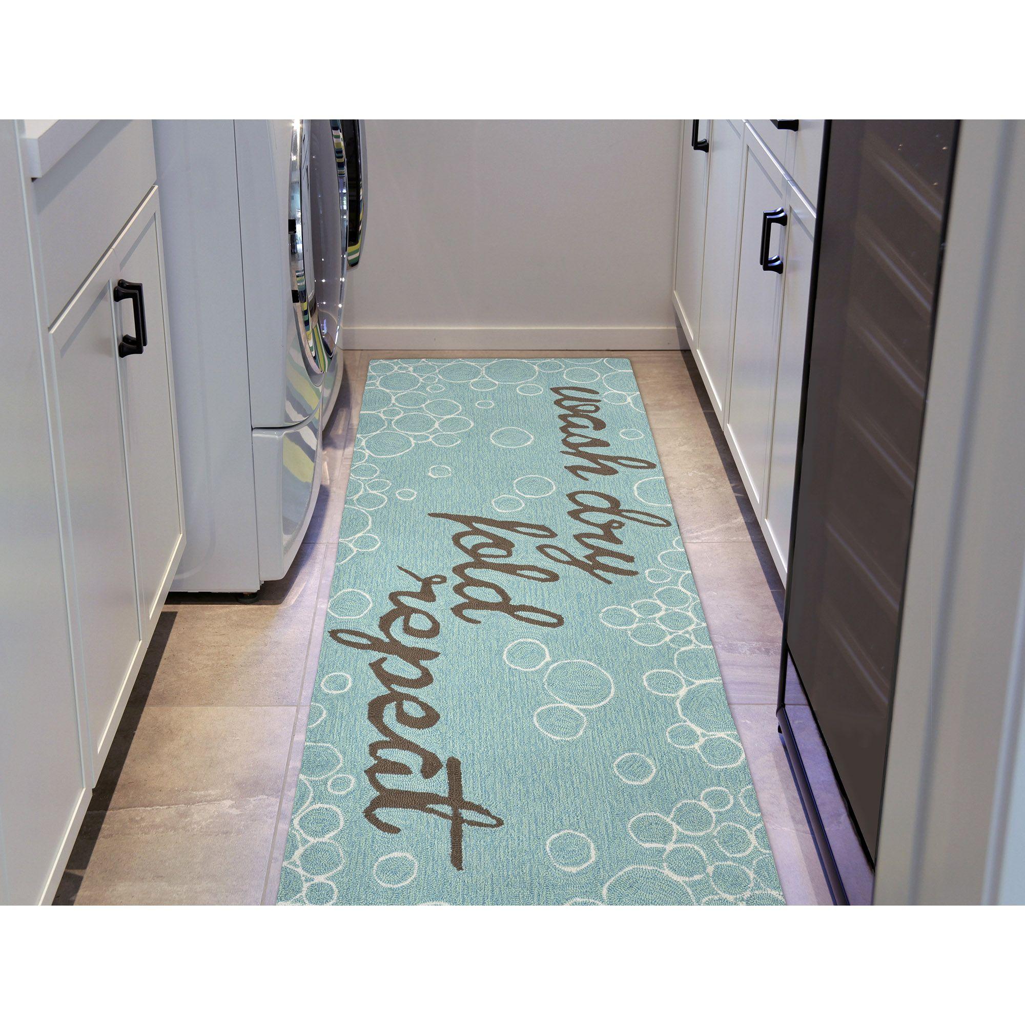 Super Cute Rug For The Laundry Room Aqua Door Indoor Outdoor Rugs Liora Manne