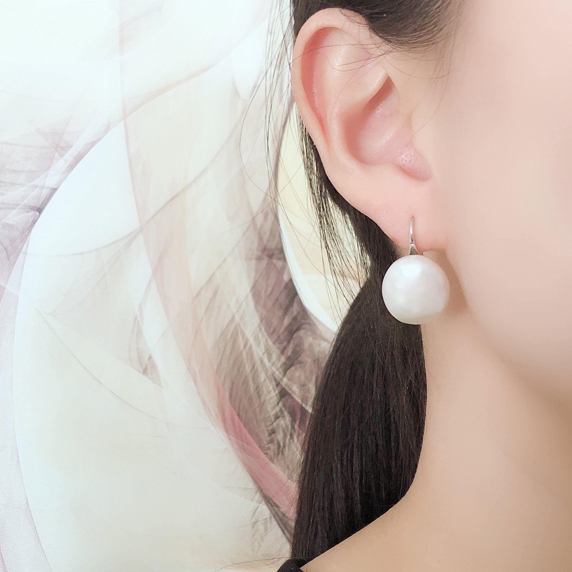 Wedding Jewellery Ivory Pearl Silver Studs Freshwater Pearl Natural Stone Studs Womens Pearl Earrings Gemstone Earrings