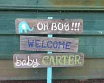 New Mom Gift Baby Yard Sign Welcome Home Baby Lawn Sign Shower Sign