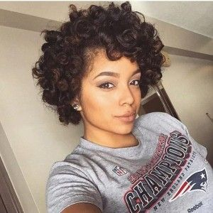 Quick Hairstyles For Short Natural African American Hair Black Curly Hairstyle For African American Women  #the Head