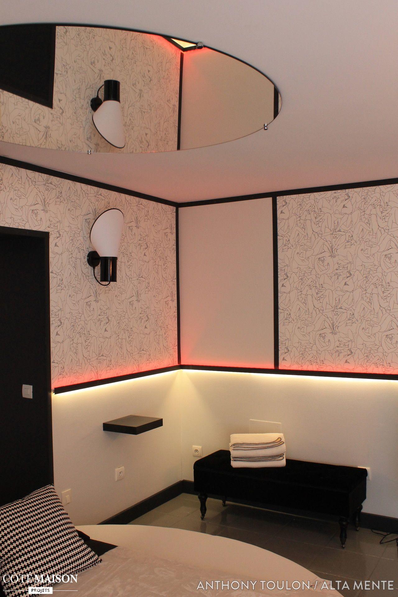Un petit appart ultra contemporain   Chambre d'hôtel design ...