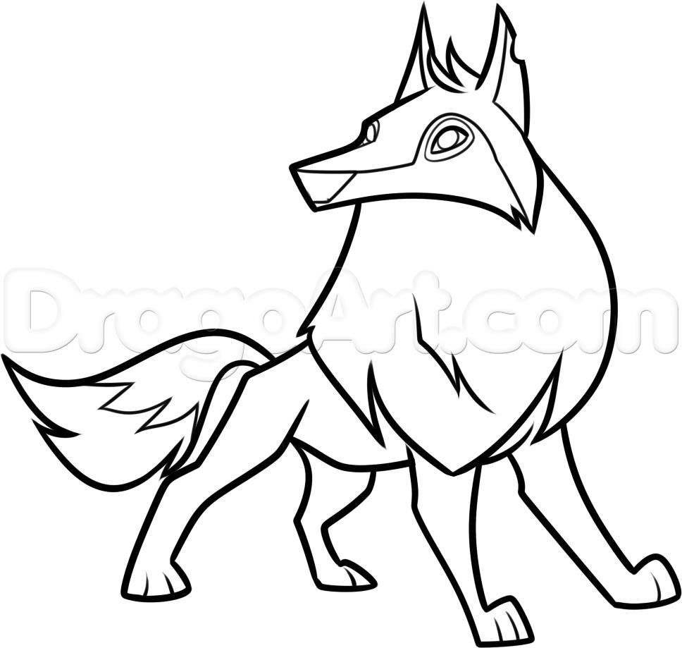 Animal Jam Arctic Wolf Coloring Pages Animal Jam Drawings