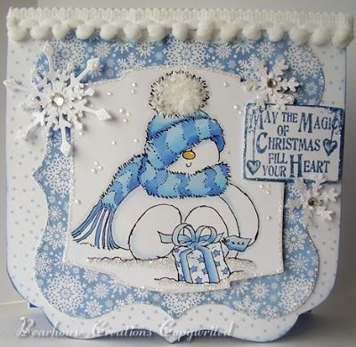 Creations by Bearhouse: Stampin' for the Weekend Challenge - Let it Snow!