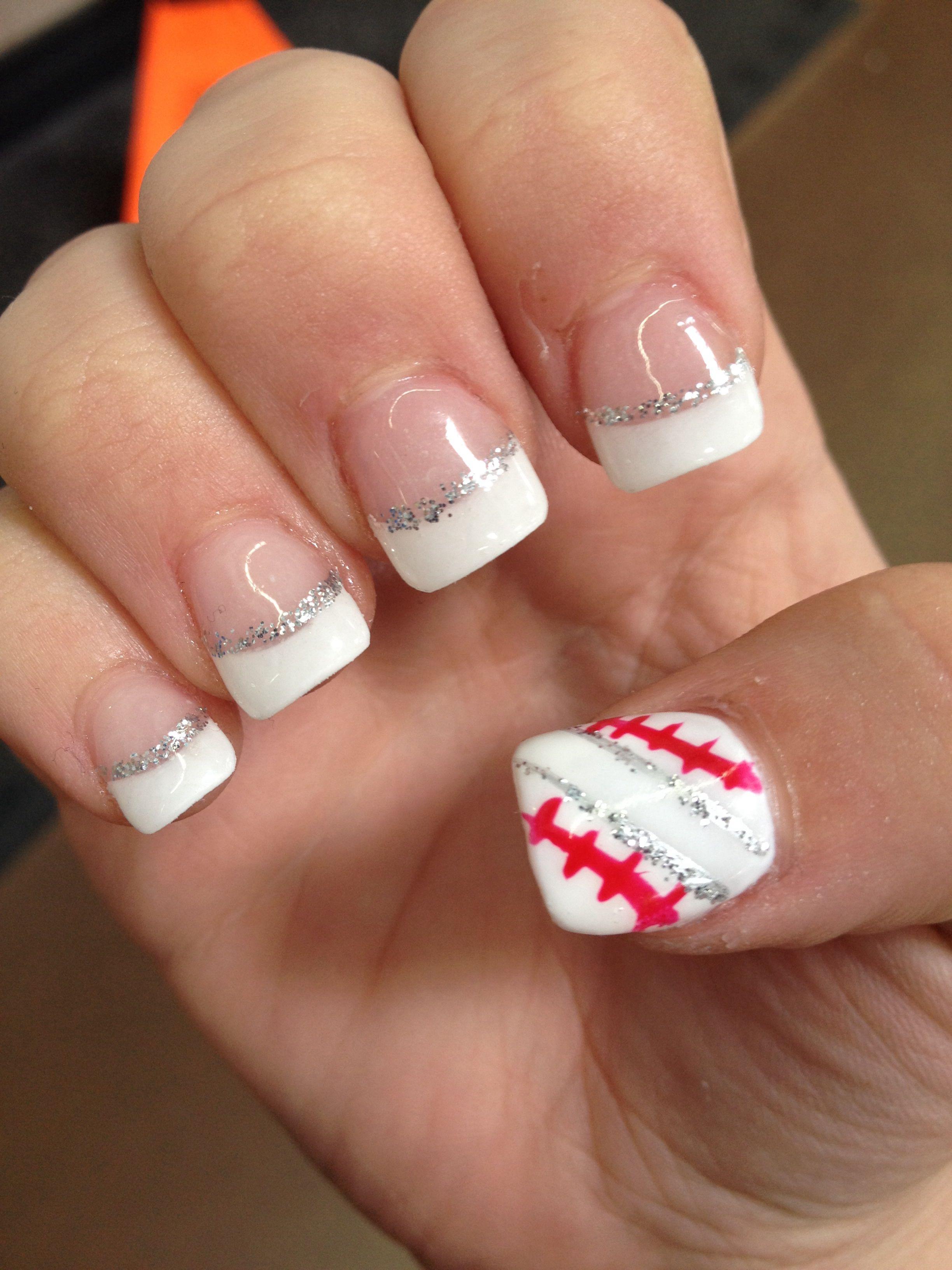 Baseball Nails Hair And Makeup Pinterest Baseball Nails