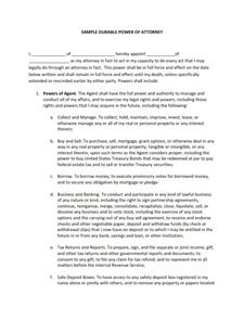 Power Of Attorney Form Free Download Create Edit Fill Print