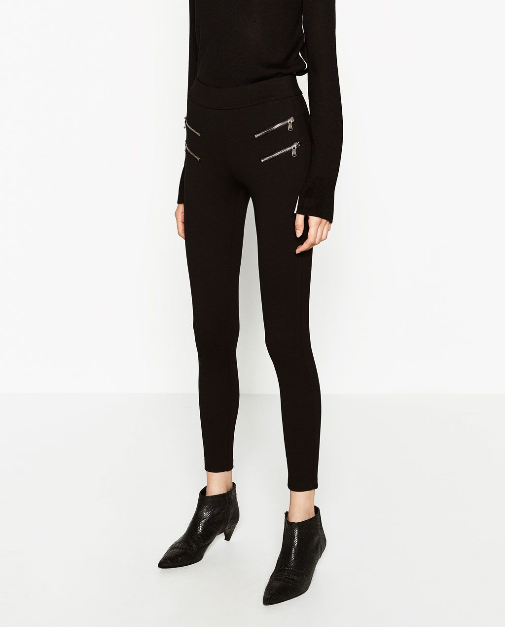 Body Shaping Biker Leggings View All Trousers Woman Zara United States