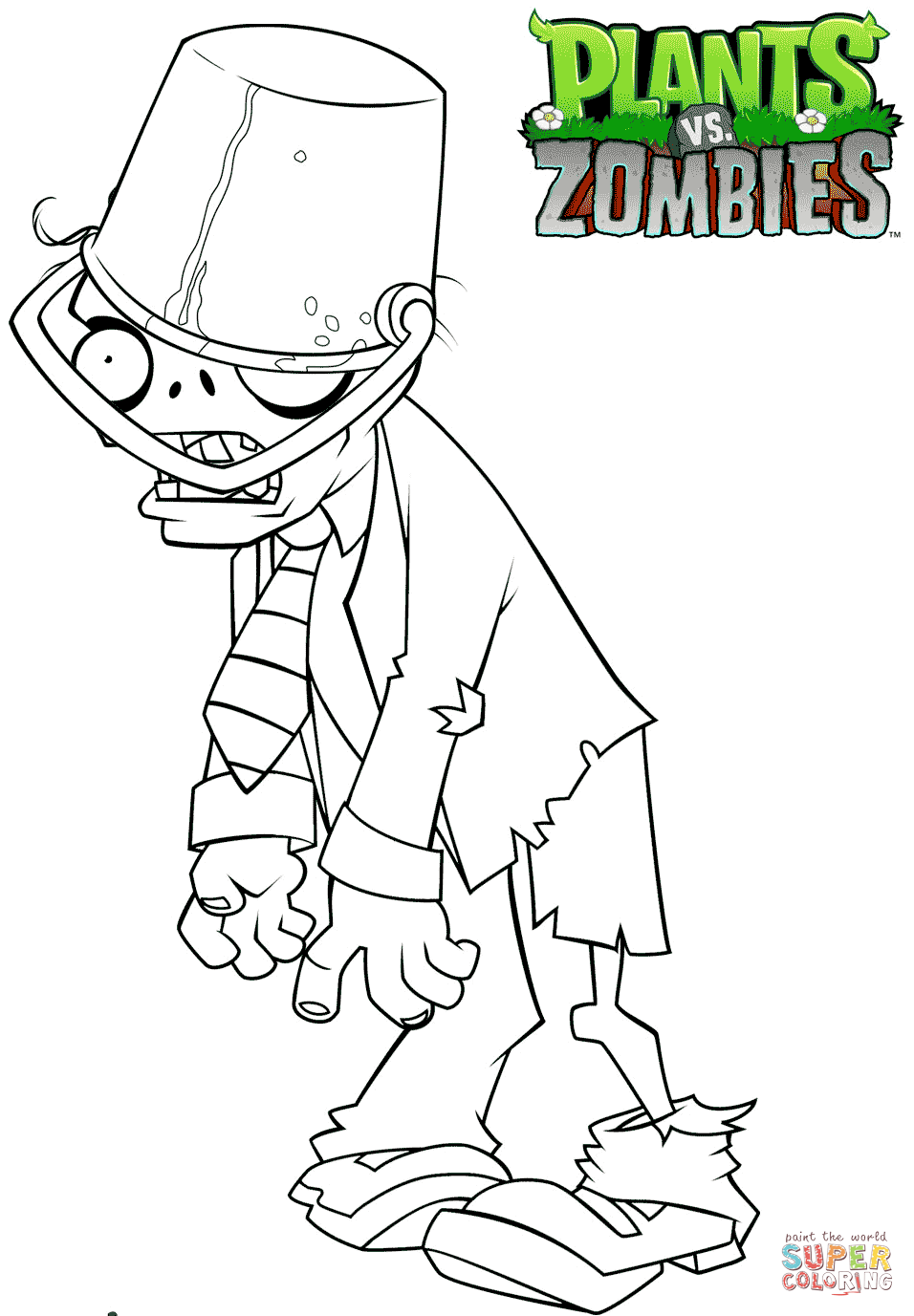 Printable coloring pages zombie - Zombies Buckethead Zombie Coloring Pages To View Printable Version Or Color